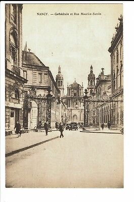 CPA-Carte postale-  FRANCE Nancy - Cathédrale et Rue Maurice-Barres--S1206