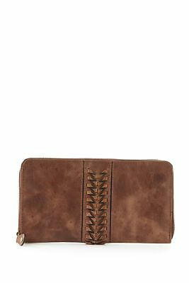 New Colorado Leather RFID Multiple Weave Zip Around Large Womens Purse Wallet