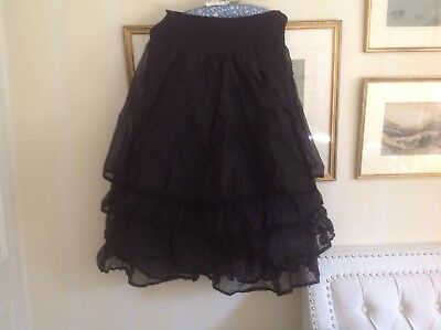 Les Ours Black Organdy Skirt/Petticoat.  One Size