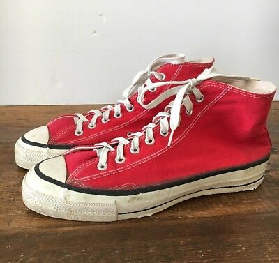 CONVERSE MEN'S VINTAGE CHUCK TAYLOR MADE IN USA 1970's SIZE 12(US) 11(UK)