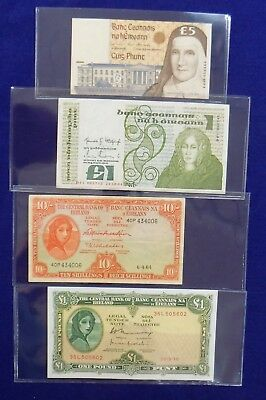 Ireland Paper Money Banknote Lot (4 Notes) 1964 1976 1984 1996 Pound Shillings