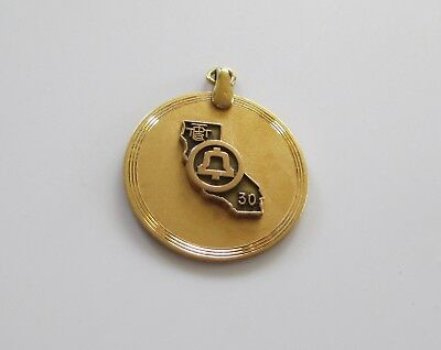 Vtg Gold-Filled TPTT THE PACIFIC TELEPHONE & TELEGRAPH COMPANY CA Pendant (AP258