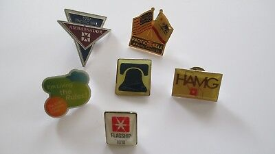 Nice 6pc PACIFIC BELL / GTE / AT&T Telephone Co Lapel Pin & Tietac Lot (AP253