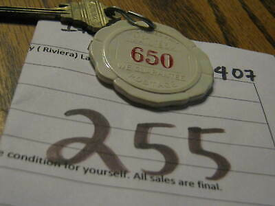 Vintage Original Casino Hotel Motel Room Key (Riviera) Las Vegas Nevada room 650
