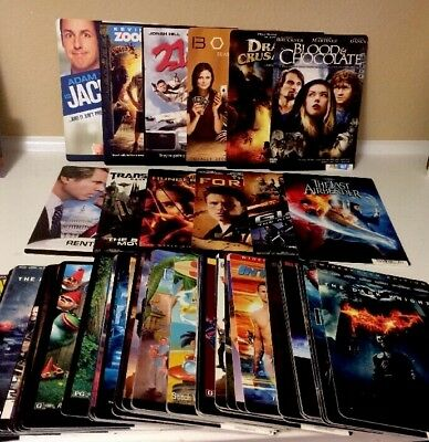 RARE 80 Movie Cards Block Buster Video Store-Great For Decor For Theater Room