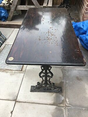 Vintage Pub cast iron table legs. Collection Only Please