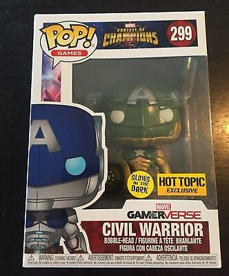 Funko Pop #299 Civil Warrior Hot Topic Exclusive Infinity War Captain America
