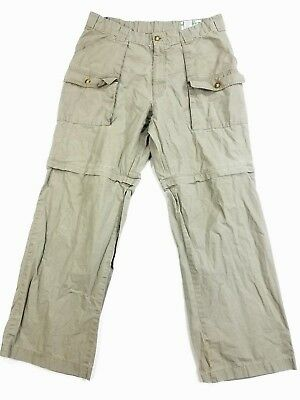 Orvis BUZZ OFF Insect Shield Repellent Mens Cargo Pants Shorts sz 36 actual W33