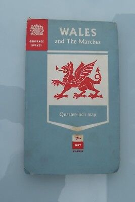 Ordonance Survey Vintage Map Wales And Marches Quater Inch Map Good Condition Os