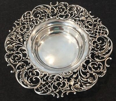 Excellent 7 3/8 In Howard & Co. Sterling Silver Wine Bottle Coaster Fully Marked