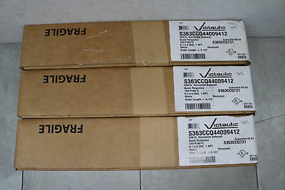 """3x Victaulic 78P Standard Concealed Quick 155F 9.5"""" Chrome Fire Sprinkler White"""