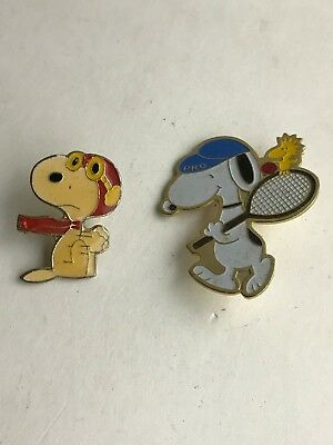 Vintage Peanuts Snoopy Flying Ace & Tennis Pin