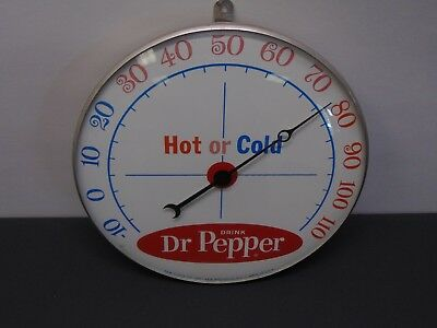 Vintage ~ Dr. Pepper Advertising Thermometer ~ PAM Clock ~ Working! ~ Ships Free