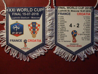 fanion tissu finale coupe du monde 2018 RUSSIA 2018 FRANCE VS CROATIE 10 x 08 cm