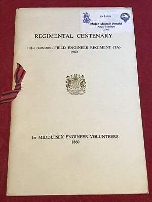 Regimental Centenary 101st (London) Field Engineer Regiment (TA) 1960 Programme