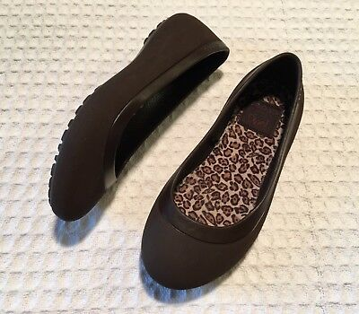 7ce59b631c5c CROCS Mammoth Leopard Lined Ballet Flats Slip-on Shoes  38 Brown - Women s  ...