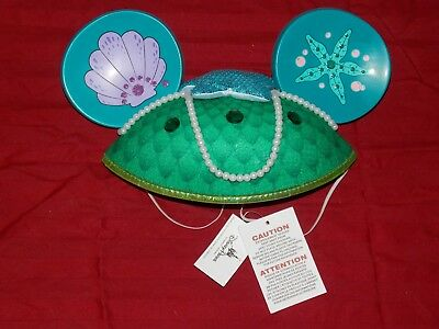 Disney Theme Parks Little Mermaid ''Princess Ariel'' Mickey Ear Hat Cap New Tags