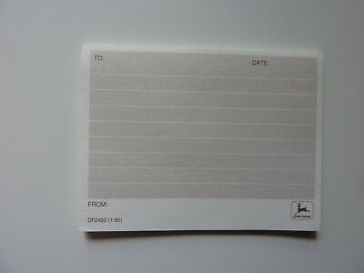 Rare Find,  John Deere 'Sticky Post It' Note Pads - A lot of 10 packs