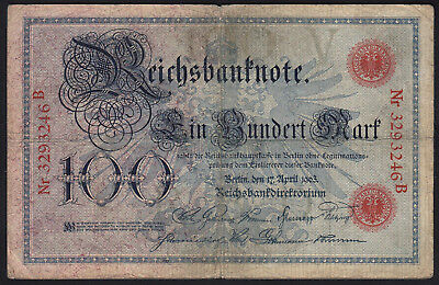 1903 100 Mark Germany Vintage Paper Money Banknote Currency Rare Antique bill