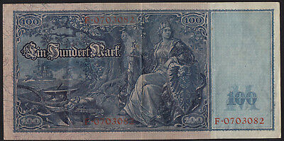 1910 100 Mark Germany VF vintage paper money banknote currency rare antique Bill