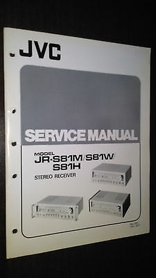 JVC jr-s81 m w h service manual original repair book stereo radio receiver tuner
