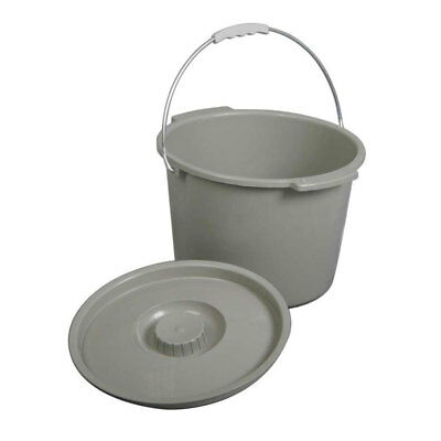 NEW MEDLINE 6VFCzz1 1 EA Commode Bucket With Lid & Handle MDS80306B