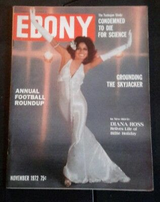 Vintage Ebony Magazine Diana Ross Black Americana November 1972