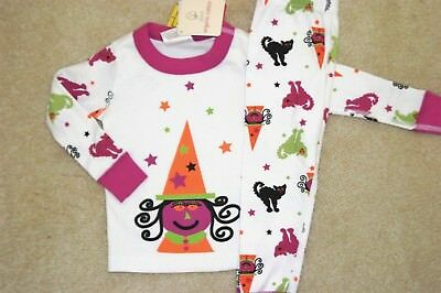 NWT HANNA ANDERSSON girls witch black cat Halloween Long Johns 2T 3T 90