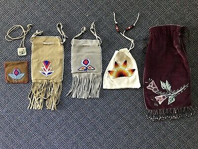 Vintage Native American Leather And Velvet
