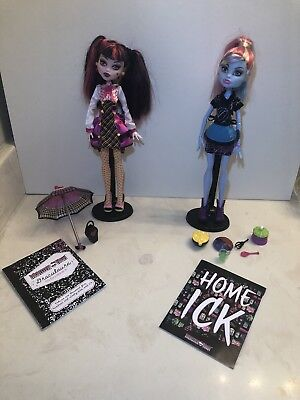 Monster High doll lot Draculaura schools out and abbey bominable home ick