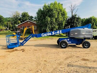 Genie 4X4 S-45 Man Aerial Platform Boom Lift Articulated Telescopic With Jib