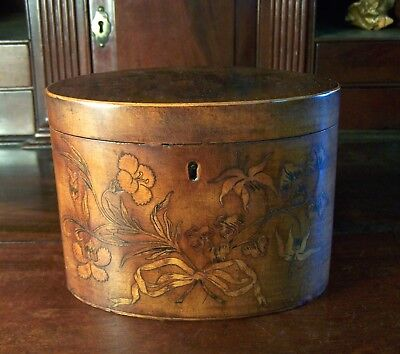 Georgian Oval  18Th Century Tea Caddy