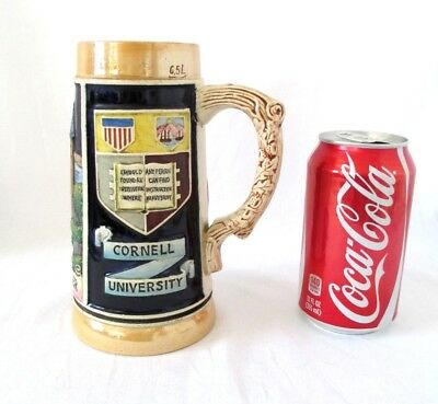 Vintage 1953 ERIC.P. MIHAN Cornell University Library Tower Beer Stein Germany