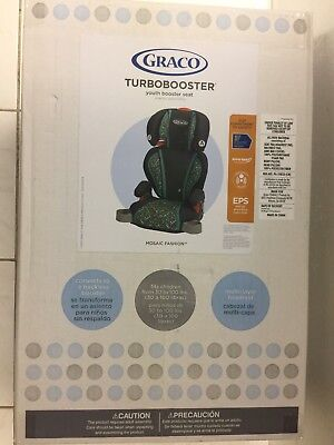 GRACO High Back Support TURBOBOOSTER Car Seat 30-100Lbs Mosaic Fashion Sealed