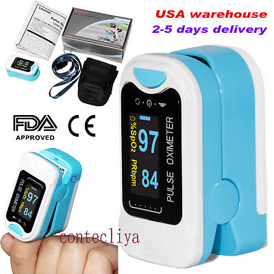 CMS50NA FDA&CE OLED Finger Pulse Oximeter SPO2 PR Heart Rate Monitor,US Seller