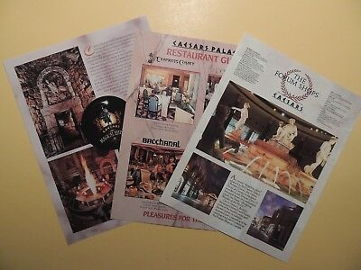 Caesars Palace Casino Hotel Las Vegas Nevada Lot 3 brochures Magical Empire