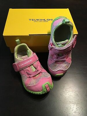 TSUKIHOSHI Sneakers Sz. 8 Children's Girls' Pink and green very good condition