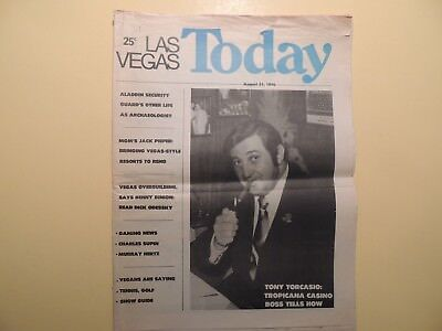 Las Vegas Today weekly newspaper Aug 21 1976 MGM Reno Dining Shows Casino