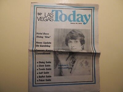 Las Vegas Today weekly newspaper January 24 1976 Tropicana Casino Dining Shows