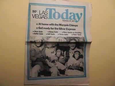 Las Vegas Today weekly newspaper Sept 27 1977 Silver Express Dining Shows Casino