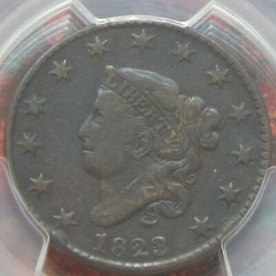 *1823/2 Coronet Large Cent PCGS F15 Tougher Date Rare PCGS Population:1
