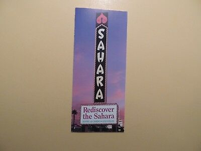 Sahara Casino Hotel Las Vegas Nevada vintage brochure early 1990's