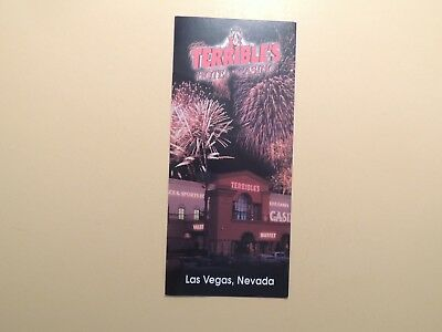 Terrible's Casino Hotel Las Vegas Nevada vintage  brochure