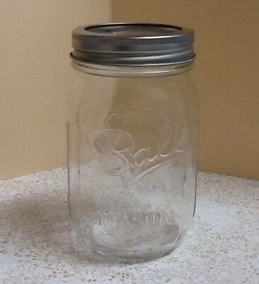 New Ball Regular Mouth Clear Glass Mason Jar 1 16 Oz Canning Preserving Jar