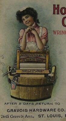 American Horseshoe Brand Clothes Wringer Advertising Envelope Wash Tub 1906