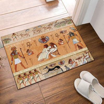 Ancient Egypt Decor Egyptian Gods and Pharaohs Mat Rug Carpet Bathroom Bath Mats