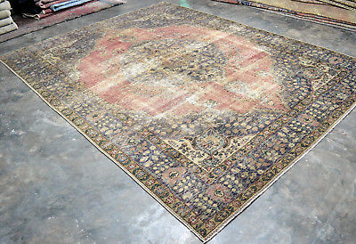 """""""CLEARANCE"""" VINTAGE Overdyed Persian Tabriz 8'X11' Handknotted Wool Pile Rug"""