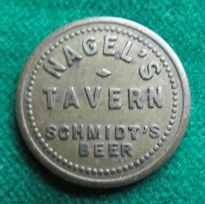 SCHMIDT'S BEER token - Good for 5¢ in Trade / Nagel's Tavern DUBUQUE IOWA
