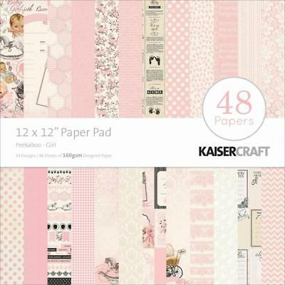 "Kaisercraft Baby Girl Peek-a-boo Paper Pad 12x12"" 48 Pages - Nini's Things"