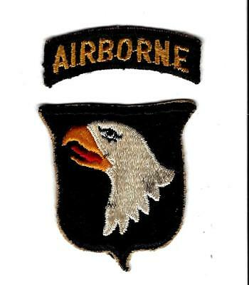 WW2 101st AIRBORNE DIVISION  patch, used , w/ separate tab. Great example.